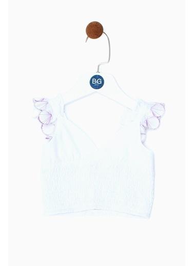 BG Baby Kız Bebek Beyaz T-Shirt 19SS0BG2520 Beyaz